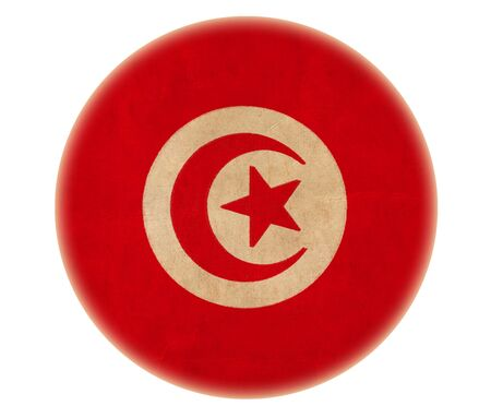 grunge Tunisia flag drawing button  Stock Photo - 15938656