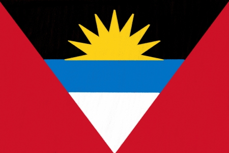 antigua flag: Antigua and Barbuda flag drawing by pastel on charcoal paper Stock Photo