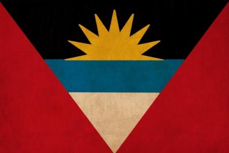 antigua flag: Antigua and Barbuda flag drawing ,grunge and retro flag series