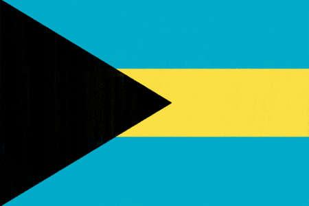 bahamas celebration: Bahamas flag drawing by pastel on charcoal paper  Stock Photo
