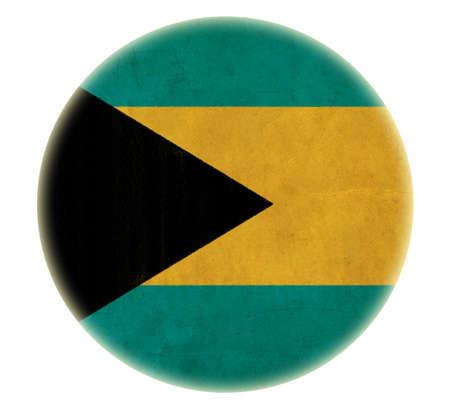 bahamas celebration: grunge Bahamas flag drawing button  Stock Photo