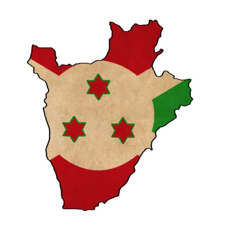 Burundi map on Burundi flag drawing ,grunge and retro flag series photo