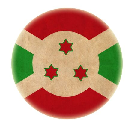 grunge Burundi flag drawing button  photo