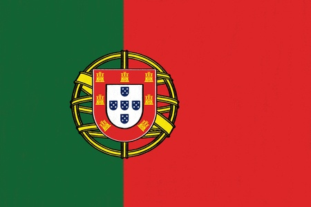 Portugal flag drawing by pastel on charcoal paper  Stock Photo - 16967085