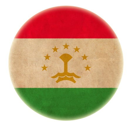grunge Tajikistan flag drawing button photo