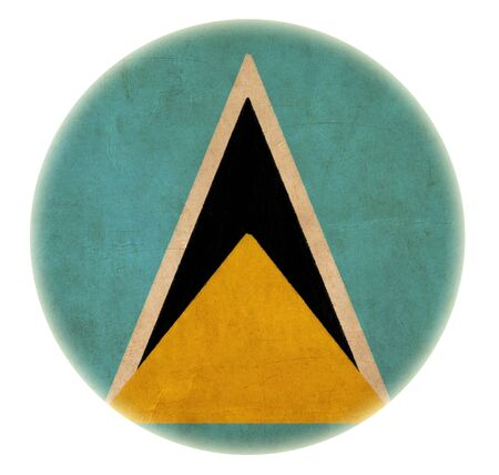saint lucia: grunge Saint Lucia flag drawing button  Stock Photo