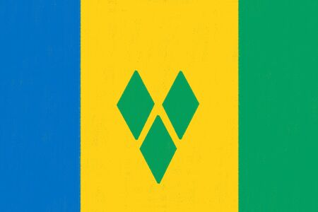 grenadines: Saint Vincent Grenadines flag drawing by pastel on charcoal paper