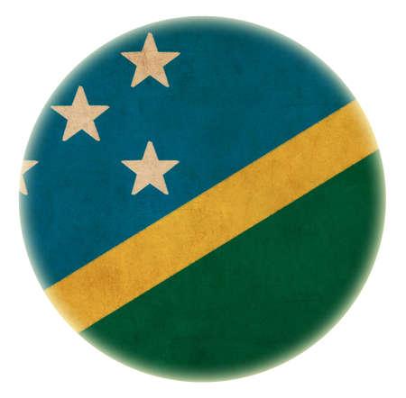 solomon: grunge Solomon Islands flag drawing button  Stock Photo