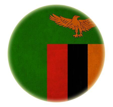 zambian: grunge Zambia flag drawing button