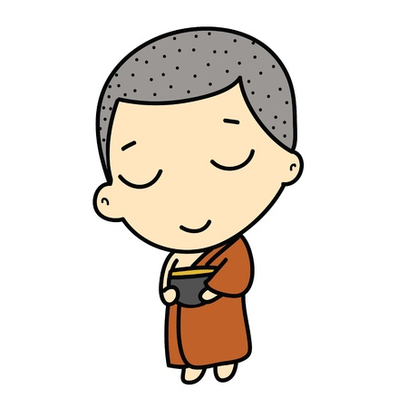 cute Buddhist Monk photo