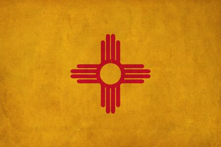 New Mexico flag drawing ,grunge and retro flag series  photo