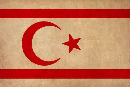 Northern Cyprus flag drawing ,grunge and retro flag series  Stock Photo - 17422654