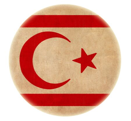 grunge Northern Cyprus flag drawing button  Stock Photo - 17422645