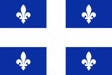 identidad cultural: Quebec dibujo bandera de pastel sobre papel carb�n