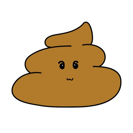dung: cute Poop Cartoon