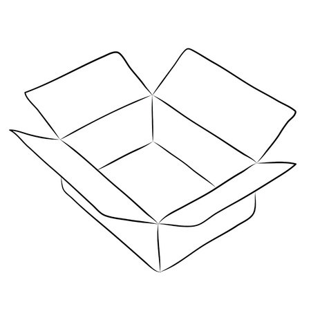 Drawing of box  photo