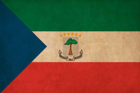 equatorial guinea: Equatorial Guinea flag drawing ,grunge and retro flag series