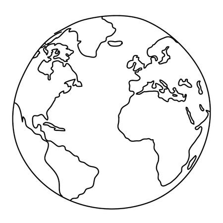 mapa de europa: Mundial de Dibujo Foto de archivo