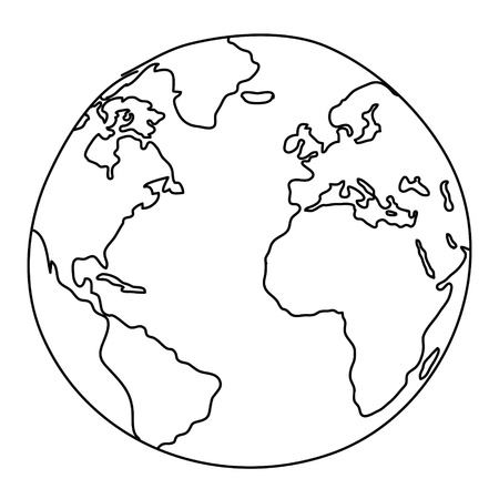 asia globe: World Drawing