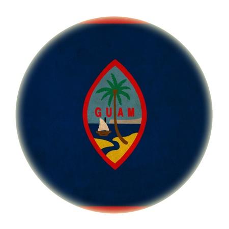guam: grunge Guam flag drawing button Stock Photo
