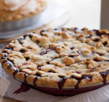 Close-up de la délicieuse tarte aux bleuets home-made Banque d'images