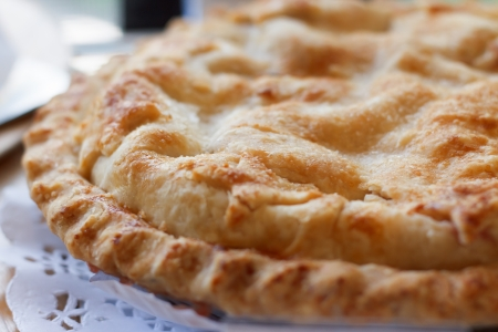 apple pie closeup Stock Photo