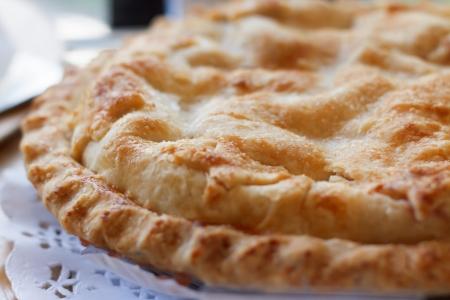 Plan rapproché de la tarte aux pommes