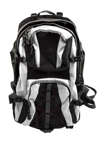backpack isolate on white photo