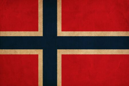 Norway flag drawing ,grunge and retro flag series photo