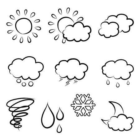 doodles weather icon set Stock Photo - 17422544