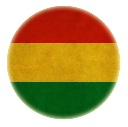grunge Bolivia flag drawing button photo