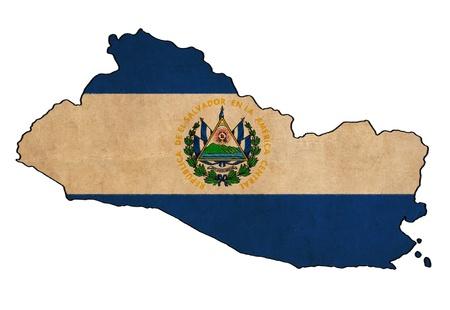 mapa de el salvador: El Salvador en el mapa El dibujo bandera Salvador, grunge y la serie de la bandera retro