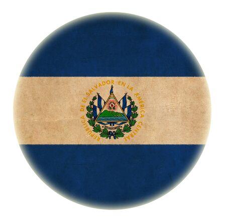 bandera de el salvador: grunge bot�n dibujo bandera de El Salvador Foto de archivo