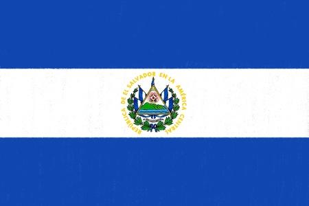 bandera de el salvador: El dibujo de la bandera Salvador by pastel sobre papel carb�n de le�a