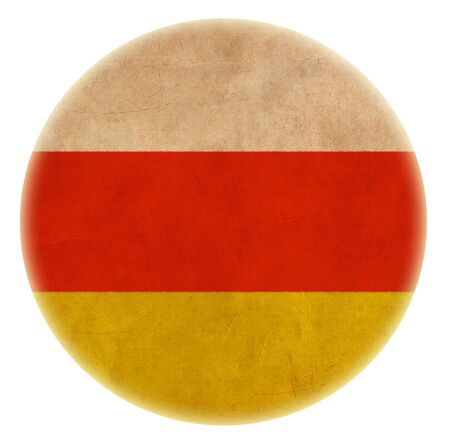 grunge South Ossetia flag drawing button Stock Photo - 21326854