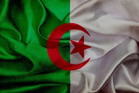 algerian flag: Algerian grunge waving flag