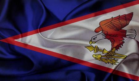 samoa: American Samoa grunge waving flag Stock Photo