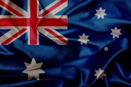 Australie grunge flag waving