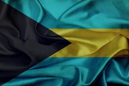 Bahamas grunge agitant un drapeau