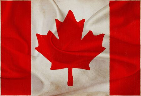 Canada grunge waving flag photo