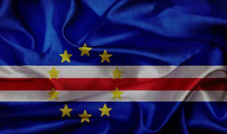 cape verde: Cape Verde grunge waving flag