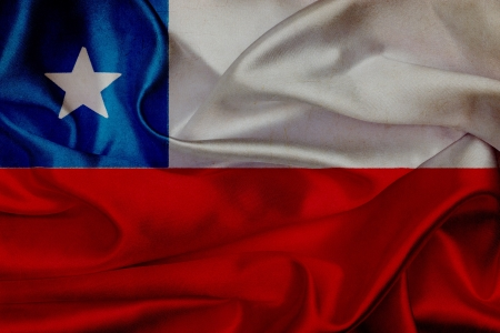 Chile grunge waving flag photo