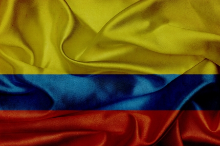 Colombia grunge waving flag photo