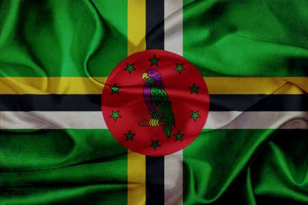 dominica: Dominica grunge waving flag