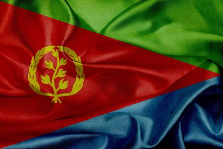 eritrea: Eritrea grunge waving flag Stock Photo