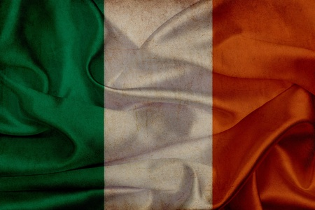 Ireland grunge waving flag photo