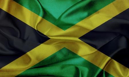 Jamaica grunge flag waving
