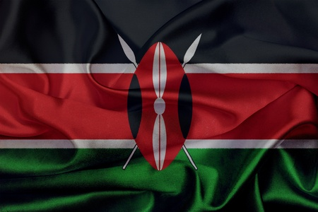 Kenya grunge waving flag photo