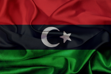 Libya grunge waving flag photo