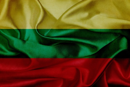 Lithuania grunge waving flag photo